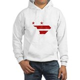 Washington DC Flag Map Hoodie