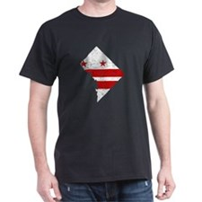 Washington DC Flag Map T-Shirt