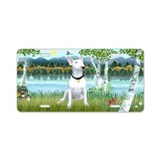 Birches / Bull Terrier 1 - Aluminum License Plate