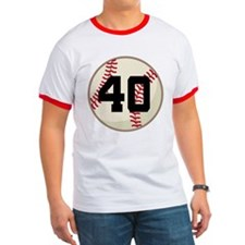 Baseball Player Number 40 Team T