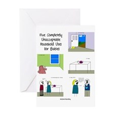 five completely unacceptable Greeting Card
