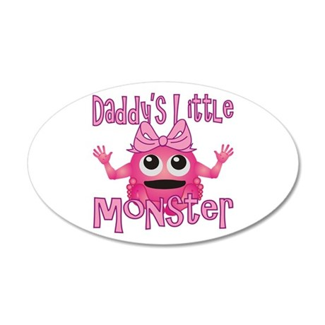 Girl Daddy's Little Monster 38.5 x 24.5 Oval Wall