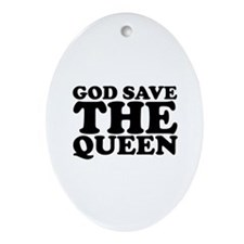 God Save the Queen (text: bla Ornament (Oval)