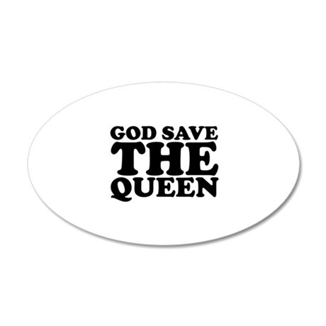God Save the Queen (text: bla 38.5 x 24.5 Oval Wal