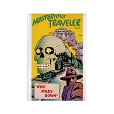 $4.99 Mysterious Traveler Rectangle Magnet