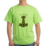 Thor's Hammer X-Gold - THOR Green T-Shirt