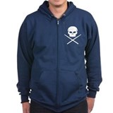 Skull and Drum Sticks Zipped Hoodie