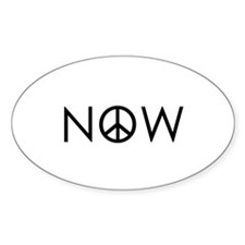 Peace NOW Oval Decal