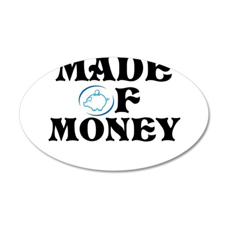 Made Of Money 38.5 x 24.5 Oval Wall Peel