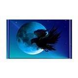 Raven and Blue Moon 38.5 x 24.5 Wall Peel