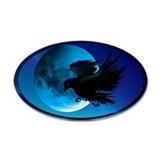Raven and Blue Moon 38.5 x 24.5 Oval Wall Peel