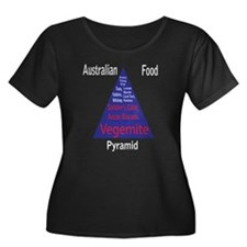 Australian Women's Plus Sz Scoop Neck Dark Tee