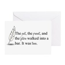 It Was Tense Greeting Cards (Pk of 20)