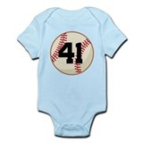 Baseball Player Number 41 Team Onesie