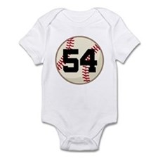 Baseball Player Number 54 Team Infant Bodysuit