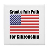 Grant a Fair Path Tile Coaster