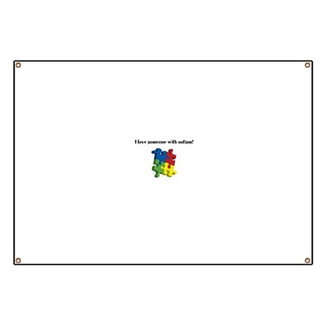 I Love Someone With Autism Banner