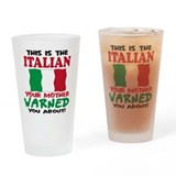 The Italian your mother warne Pint Glass
