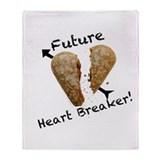 Future Heart Breaker Throw Blanket