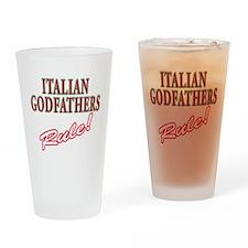 Italian Godfathers Pint Glass