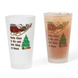 Santa Claus vs Nonna Pint Glass