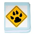 Cat Crossing Sign baby blanket