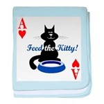 Cats Playing Poker baby blanket
