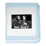 Cat Duet baby blanket
