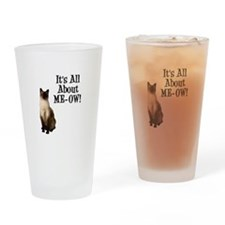 ME-OW Siamese Cat Pint Glass