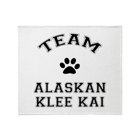 Team Alaskan Klee Kai Throw Blanket
