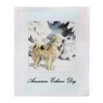 Eskimo Dog Art Throw Blanket
