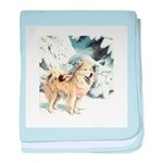 Eskimo Dog Art baby blanket