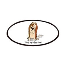 Happy Face Basset Hound Patches
