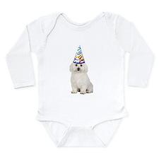 Bichon Frise Party Long Sleeve Infant Bodysuit