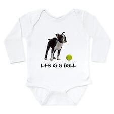 Boston Terrier Life Long Sleeve Infant Bodysuit