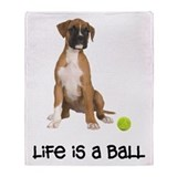 Boxer Life Throw Blanket