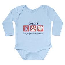 Welsh Corgi Long Sleeve Infant Bodysuit