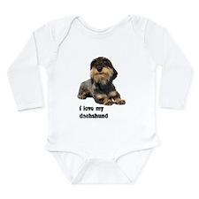 I Love My Dachshund Long Sleeve Infant Bodysuit