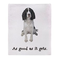 Good Springer Spaniel Throw Blanket