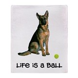 German Shepherd Life Throw Blanket