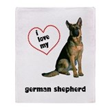 German Shepherd Lover Throw Blanket