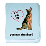 German Shepherd Lover baby blanket