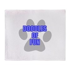 Fun Labradoodle Throw Blanket