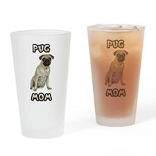Pug Mom Drinking Glass