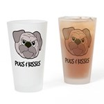 Pugs And Kisses Pint Glass