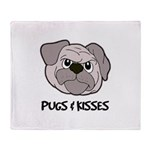 Pugs And Kisses Throw Blanket