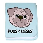 Pugs And Kisses baby blanket