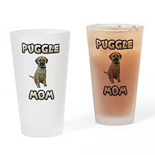 Puggle Mom Drinking Glass