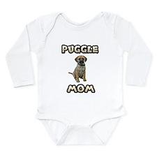Puggle Mom Long Sleeve Infant Bodysuit
