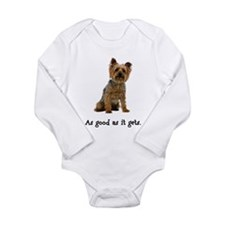 Good Silky Terrier Long Sleeve Infant Bodysuit